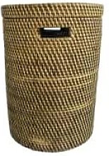 The Goods - Small Brown Rattan Laundry Basket -