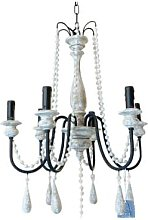 The Grey Works - Charmont Beaded Chandelier With 6