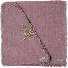 The Grey Works - Frayed Edge Linen Napkin Fig -