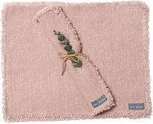 The Grey Works - Frayed Edge Linen Placemats Shell
