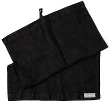 The Grey Works - French Linen Hand Towel Black -