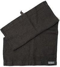 The Grey Works - French Linen Hand Towel Charcoal