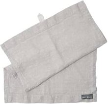 The Grey Works - French Linen Hand Towel Pale Grey