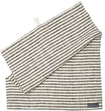 The Grey Works - French Linen Hand Towel Ticking