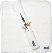 The Grey Works - Linen Napkin With A Frayed Edge