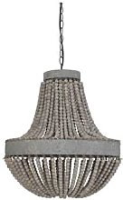 The Grey Works - Luna Old White Beaded Chandelier