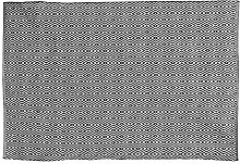 THE HOME DECO FACTORY Rug, Cotton, Black and