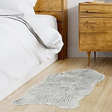 THE HOME DECO FACTORY Rug, polyester, Light Grey,