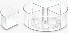 The Home Edit & iDesign Divided Turntable Storage