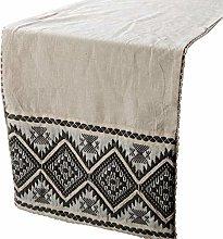 The HomeCentric Linen Table Runner, Beige Linen
