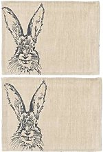 The Just Slate Company - Hare Linen Placemats -