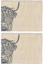 The Just Slate Company - Highland Cow Linen