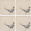 The Just Slate Company - Pheasant Linen Napkins -