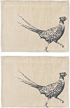 The Just Slate Company - Pheasant Linen Placemats