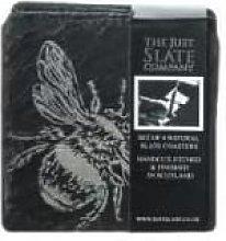 The Just Slate Company - Set of 4 Bee Coasters