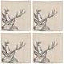 The Just Slate Company - Stag Linen Napkins - Set