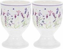 The Leonardo Collection Lavender Egg Cups, Set of