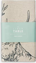 The Linen Table Stag Woven Table Runner, 140cm,