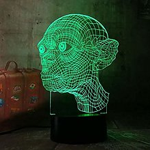 The Lord of The Rings Gollum 3D LED Night Light