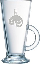 The Nightmare before Christmas Latte Coffee Glass.