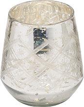 The Noel Collection Glass Foil Tea Light Holder