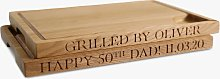 The Oak & Rope Company Personalised Carving Board