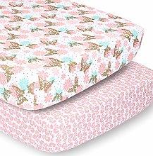 The Peanutshell Crib Sheet Set for Baby Girls |