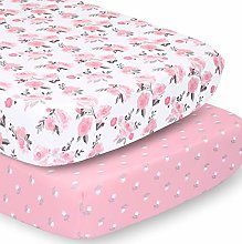 The Peanutshell Crib Sheet Set for Baby Girls |