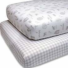 The Peanutshell Fitted Crib Sheet Set for Baby