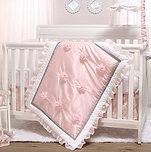 The Peanutshell Pink Crib Bedding Set for Baby