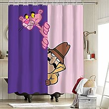 The Pink Panther Fabric Shower Curtain Liner with