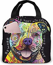 The Pit Bulls Steal Your Heart Lunch Bag Insulated