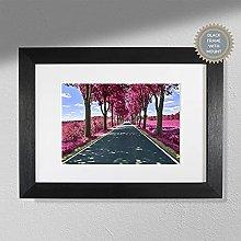 The Purple Road - Purple Wall Art   Colourful Wall