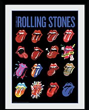 The Rolling Stones Tongues Framed Print Wall Art