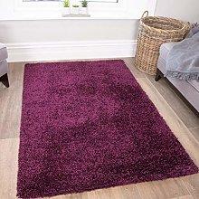 The Rug House Deep Purple Plum Soft Touch Anti