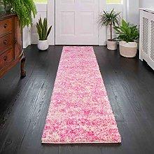 The Rug House Modern Plush Pink Designer Shaggy