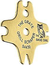 The Sage Owl The Grate Grill Scraper - Brass - Non