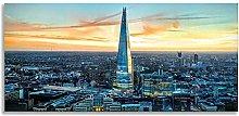 The Shard London Skyline Panoramic Canvas Wall Art