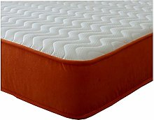 The Small Single Orange Seville Wave Mattress by