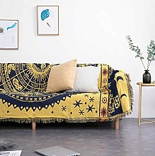 The sofa blanket is simple and modern,