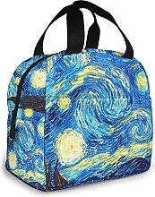 The Starry Night Van Gogh Insulated Lunch Bag