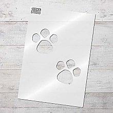 The Stencil Studio Ltd - Paw Print Stencil -
