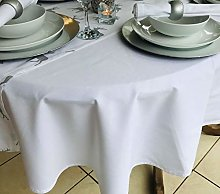THE TABLECLOTH COMPANY 150x260CM PLAIN CHRISTMAS