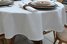THE TABLECLOTH COMPANY 150x310CM 100% COTTON WHITE
