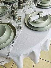 THE TABLECLOTH COMPANY 59x82 PLAIN CHRISTMAS WHITE