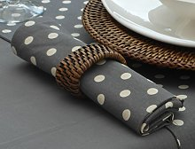 THE TABLECLOTH COMPANY PACK OF 4 VINTAGE GREY WITH