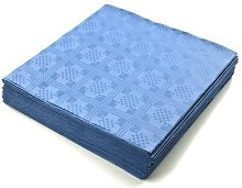 THE TABLECLOTH SHOP Blue Paper Table Covers x 25