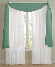 The Textile House Plain Voile Net Curtain Scarf