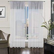 The Textile House Selina Sequin Voile Slot Top Net