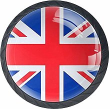 The Union Jack Cabinet Knobs 4 Pieces Drawer